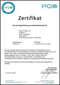 PQS Zertifikat